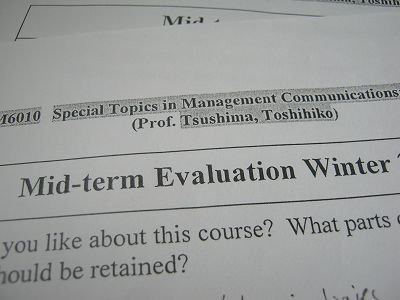 IT日本語コースの講師としての中間評価を受け取りました