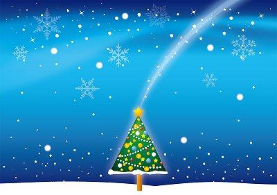 クリスマスツリーが描かれたイラスト