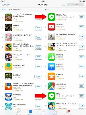 iPad で使える LINE のアプリはふたつある