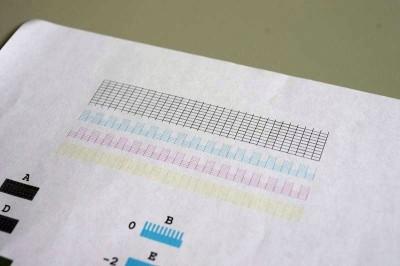 ノズルチェックパターン印刷結果