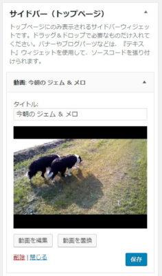 動画ウィジェットが追加された ~ WordPress 4.8